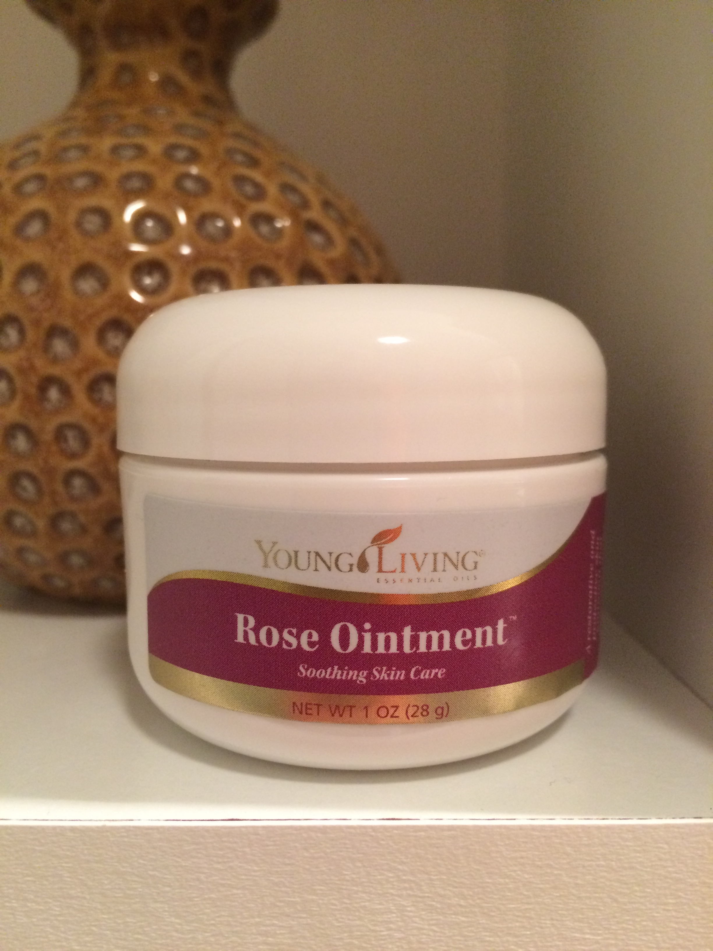 to try rose ointment from Young Living to help relieve my dry skin #9E472D